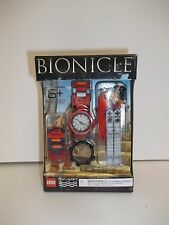 LEGO BIONICLE WATCH W/ BONUS BUILDING ACCESSORY, RED - NEW FREE SHIPPING