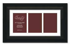 "Craig Frames Contemporary Upscale 3 Photo Collage Frame, 3 5x7 Openings, 1"" Mat"