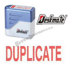 { DUPLICATE } Deskmate Red Pre-Inked Self-Inking Rubber Stamp #KE-D01A