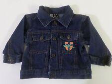 Mecca Size 6-9 Mos Baby Snap Front Decorative Everyday Denim Long Sleeve Jacket