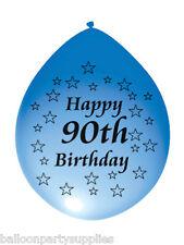 "10 x 11"" Balloons Happy 90th Birthday  Asst Colours"