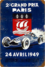 Grand Prix Paris 1949 rusted metal sign       (pst1812)
