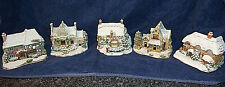 FIVE Lilliput Lane Illuminated Cottages. Battery / Mains. EXC