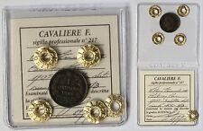 ITALY. RARE! R2 1 CENTESIMO 1905 VALORE - CIFRA 5 DELLA DATA SU 0 - MINT ERROR