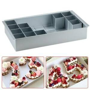 Rectangle Cake Baking Mold Tray Number Letter Tins Mould Aluminum Alloy Pan