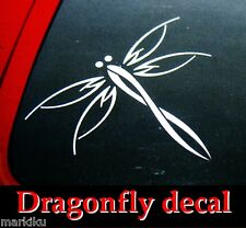 Dragonfly tribal tatoo style car truck tablet window Vinyl sticker decal white