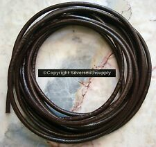 10 feet 4mm Brown leather thong bead stringing necklace cord lace thong m147