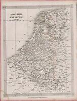 c.1840 & Belgium. Map.   Alex Findlay . Thomas Kelly (ref: ZW.2)