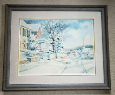 """Charles Peterson Memories """"To Grandmother's House"""" Framed, matted, 26"""" x 19"""""""