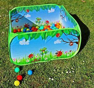 Bällebad Kinder Pop Up Spielzelt inkl. 50 Bälle & Reisetasche 90x90x45 cm Typ543