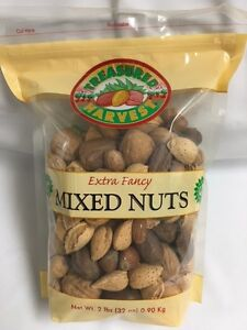 In Shell Mixed Nuts - 2 lb. Bag - Treasured Harvest Brand
