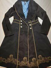 BBC Dr Doctor Who Tardis Lined Corduroy Stadium Length Coat Jacket Pockets LG