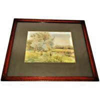 Thomas Barnett (1870-1929) Matted Framed Landscape Watercolor, Listed Artist