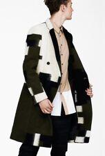 3.1 Phillip Lim Olive Combo Brindle Gentlemens Coat XL