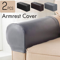 2PC PU Leather Furniture Sofa Armrest Covers Couch Chair Arm Protectors