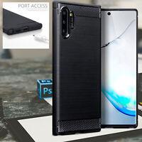 Samsung Galaxy Note 10  Shockproof Carbon Fiber URBAN™ Case Bumper BLACK