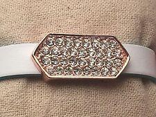 Large Pave Bar Slide Charm-( 3 Colors)  for 10mm Slide Keep Bracelet