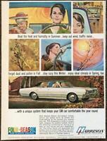 1965 Harrison Radiator Division of GM Print Ad Four Season Car Climate Control