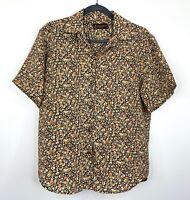 Backstage Vintage Womens Shirt Top Floral Boho Festival Button Front Size M