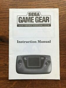 System Console Color Portable Video Sega Game Gear Instruction Manual Only