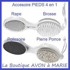 4 en 1 PEDICURE Set RAPE + LIME + PIERRE PONCE + Polissoire pour Pieds AVON