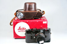 Mint- Leica M3 Film Camera + SUMMICRON 50mm f/2 Lens black paint RIGID w/box