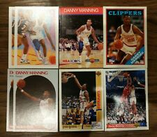 Danny Manning NBA Basketball 5+ Card Lot Clippers Hoops Topps Archives UD Upper
