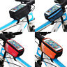 "Bicycle Cycling Bike Frame Front Tube Waterproof Mobile Phone Bag 5.0"" Outdoor"