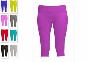 Turnhose 3/4 lang, Stretchsamt, Hose, Gymnastikhose, Trainingshose, 98-XL