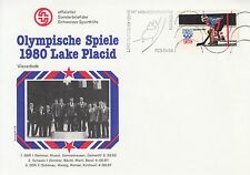 Schmuckbrief - Olympia 1980 Lake Placid / Viererbob