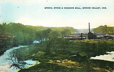 SPRING VALLEY, SPOKE, STAVE & HEADING MILL, WISCONSIN, VINTAGE POSTCARD