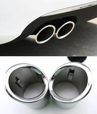 Exhaust Muffler Pipe End Tip Cover Trim For Audi A3 8V 2013 2014 2015 2016