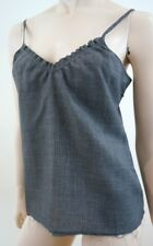 MARNI Designer Grey Wool Mix Fray Detail Sleeveless Cami Vest Top IT44; UK12