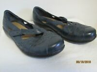 NEW CLARKS BENDABLES ASHLAND RIVER NAVY BLUE LEATHER SHOES SIZE 7.5 XW
