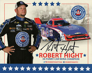 ROBERT HIGHT+AUSTIN PROCK LOT OF 2 HAND SIGNED 8x10 PHOTOS+COA      NHRA STARS