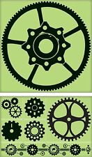 Inkadinkado Large Rubber Stamp Set - Gears, Industrial, Machinery, Clockwork