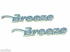2 x Genuine New VAUXHALL BREEZE BADGES Opel For Corsa D & Astra H & Zafira B