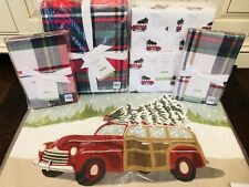 Pottery Barn Declan Full Queen Duvet Woody Sheet Set Sham Pillow Christmas Plaid