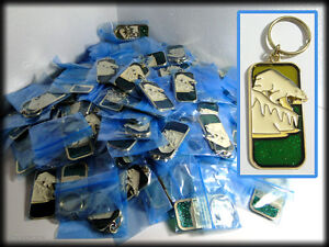 Great Metal Sparkle Keychains 120 Polar Bears, Thank You Member Gift, Geo-Cache