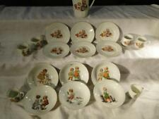 Set of doll dishes depicting children at play, to include: teapot, 6 ... Lot 206
