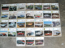 auto memorabilia- cards of knowledge-specs of autos-30 cards 1896-1970