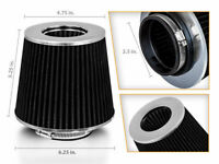 "2.5"" Cold Air Intake Dry Filter BLACK For Cherokee/Comanche/Commando/Compass"