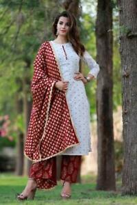 Pakistani Suit Shalwar Kameez Plazo Kurti Designer Dresses Indian Kameez Salwar