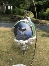 Bradford Exchange~Kevin Daniel~ Call Of The Wilderness~Heirloom Wolf � Ornament