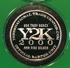 Y2K 2000 Millennium Collectible Coin 1 Troy Oz .999 Fine Silver Rare Round Medal