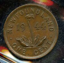 1944c Newfoundland One Cent -  ICCS AU-55