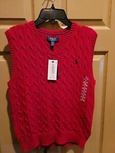 Polo ralph lauren Boys Sweater Vest Size 10/12