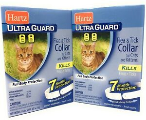 Flea Collar for Cats 2 PACK Water Resistant 7 Months Full Body Protection