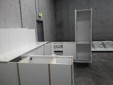 acrylic white assembled cheap bargain u shape soft close flat kitchen  two pack