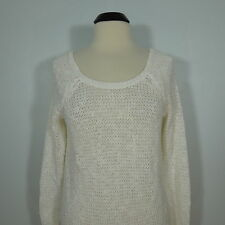 GILLY HICKS Juniors Chunky Knit Sweater, Deep Scoop Neck, size M